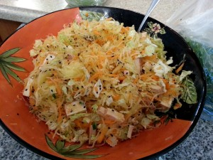 asian spaghetti squash salad